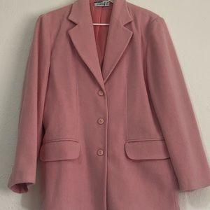 Vintage Pink Wool Jacket/Blazer- Women's 10